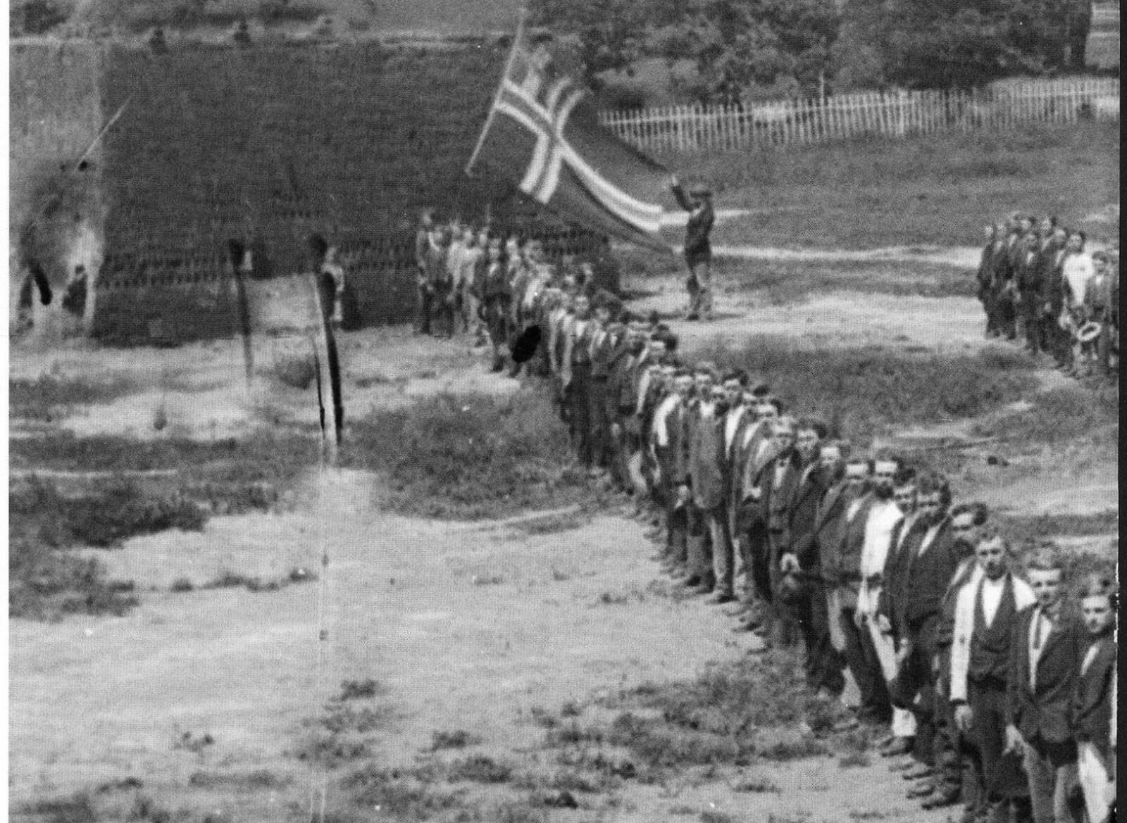 <b>NORSK FLAGG:</b> Wisconsins 15th. ble kalt The Norwegian Regiment.
