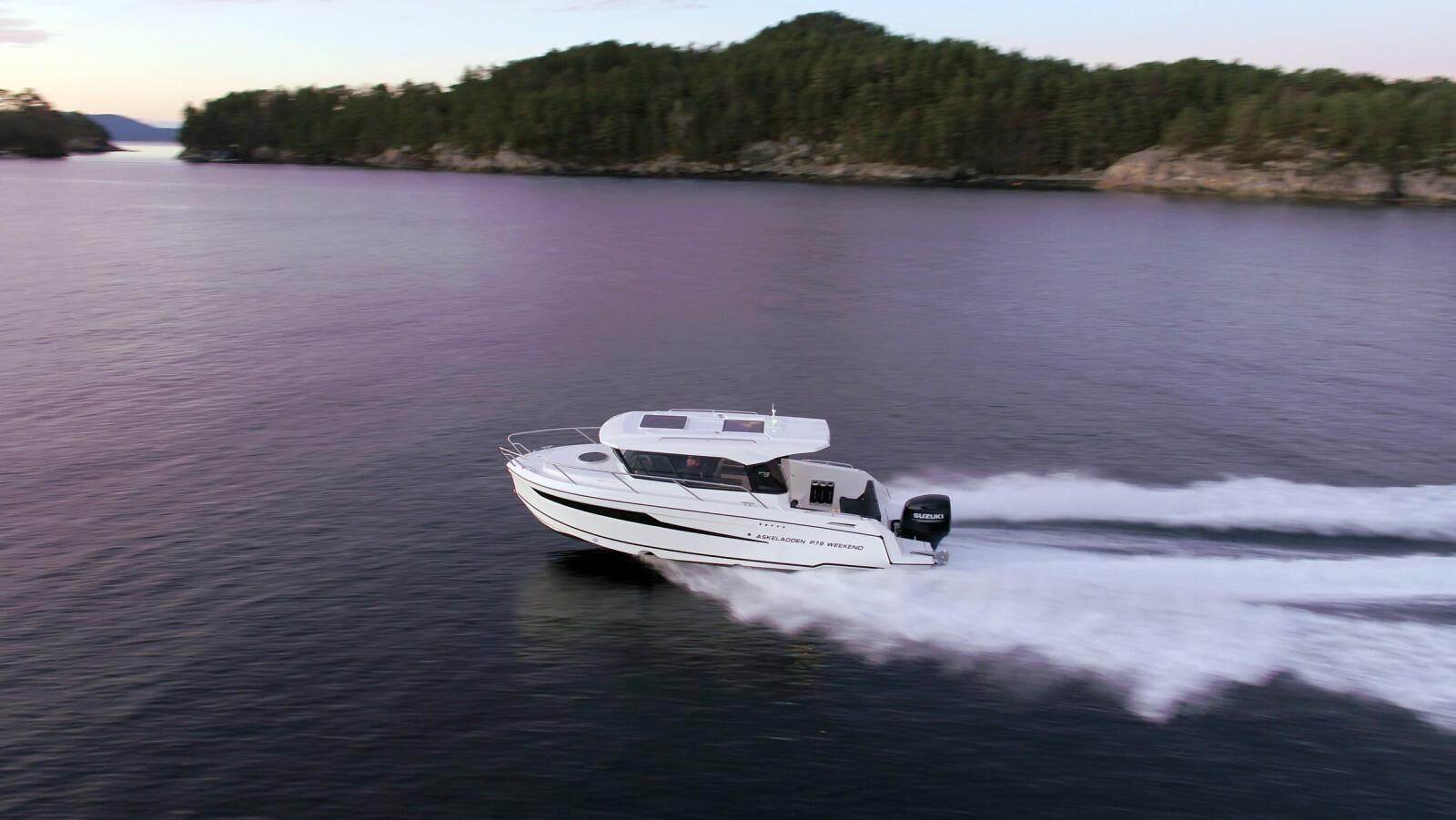 <b>STYREHYTTEBÅT:</b> Askeladden P70 skal kombinere det beste fra styrehyttebåtene med komforten til daycruserne.