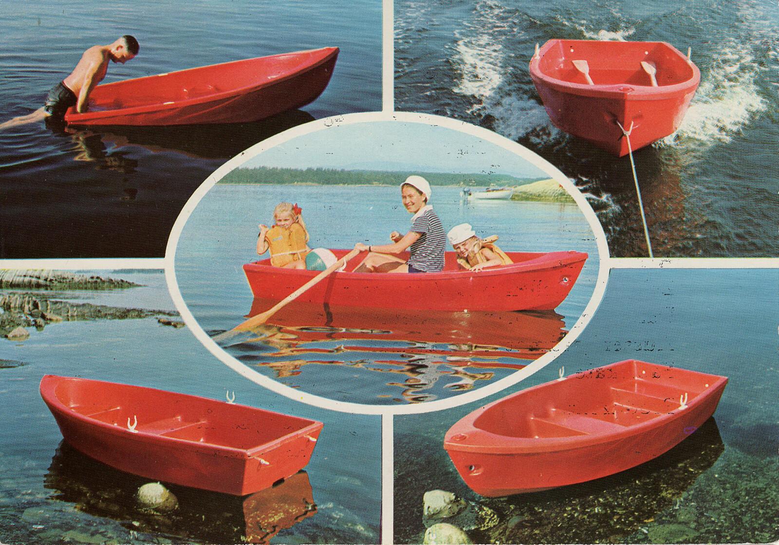 <b>PIONERS LILLE RØDE:</b> Klassikeren Pioner 8. Slepejolle, robåt, badebåt. Den lille røde dukker opp på netthinnen straks noensier Pioner.