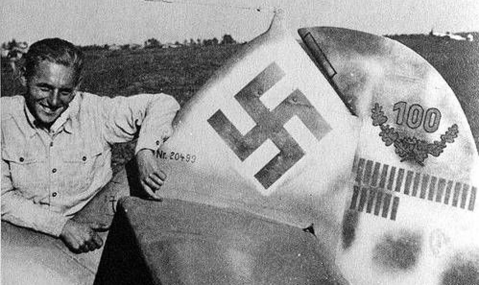 <b>UNG LEGENDE:</b> Karrieren startet med tabber, men piloten endte som legende.