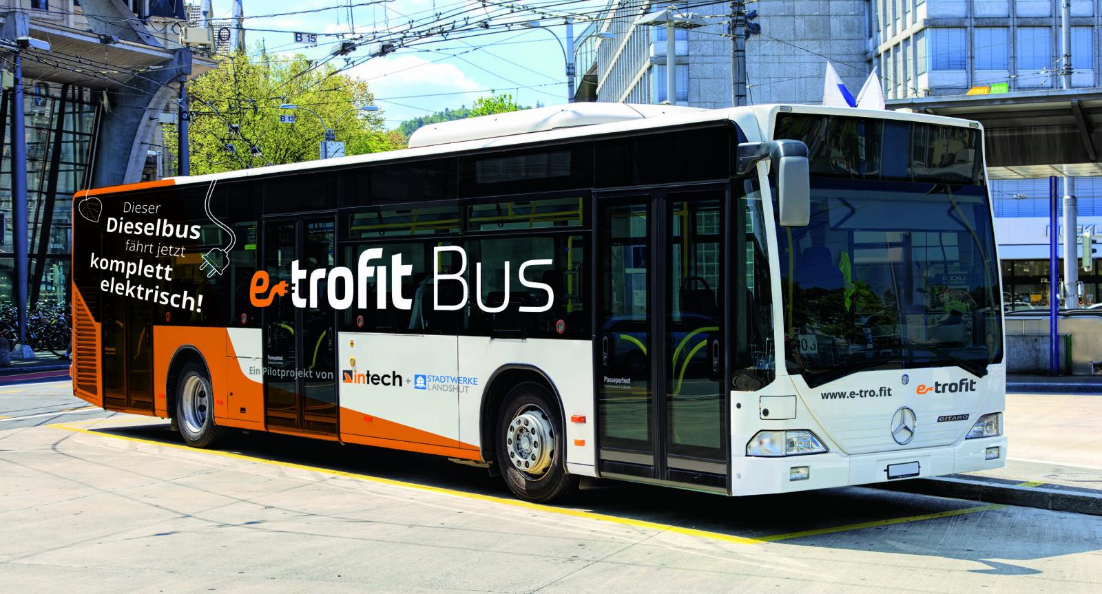 <b>EL-TILPASSING:</b>E-trofit er et konsept for ombygging av vanlige dieselbusser til elektrisk drift. Ifølge det tyske selskapet vil det koste bare halvparten av det en ny elektrisk buss koster.