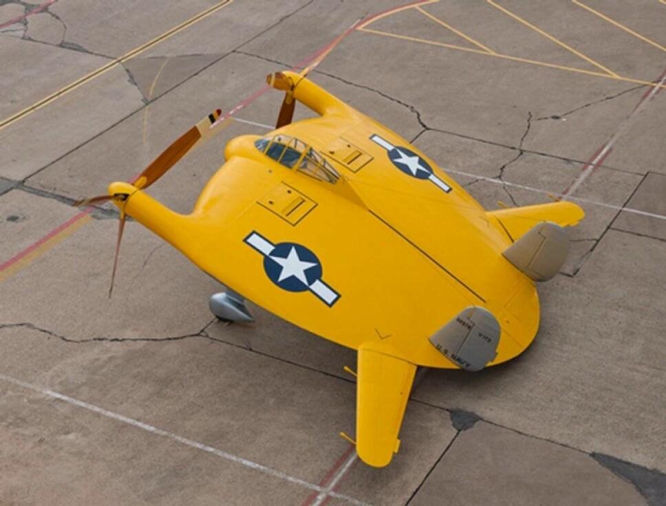 <b>NUMMER 2: </b>Vought V-173 «Den flyvende pannekake».
