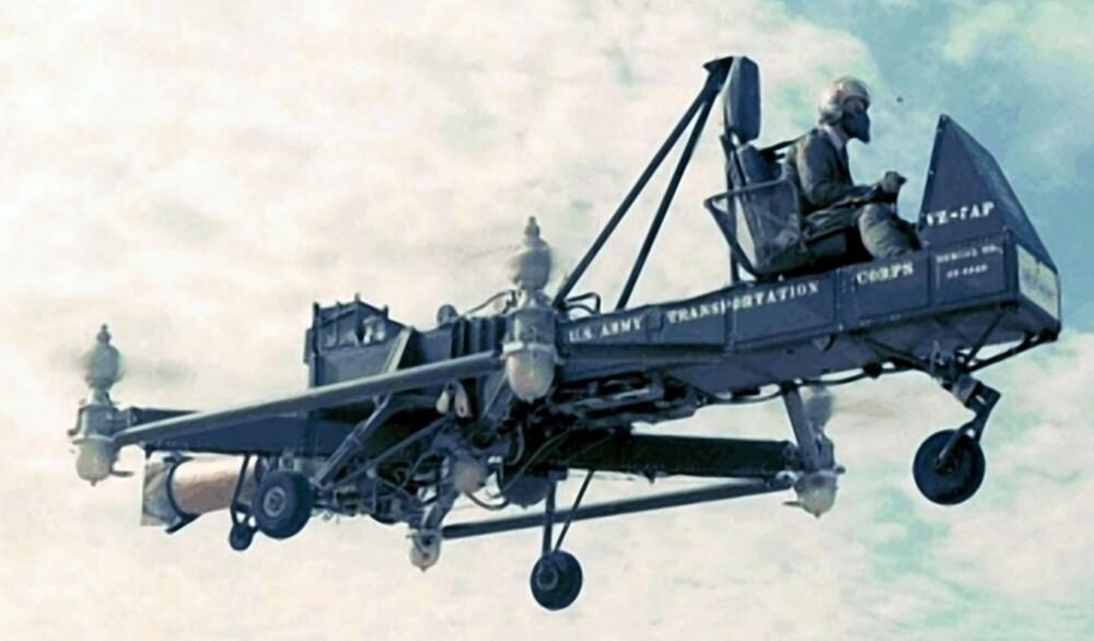 """<b>NUMMER 4: </b>Curtiss-Wright VZ-7 ble bare kalt for """"Den flyvende Jeep""""."""