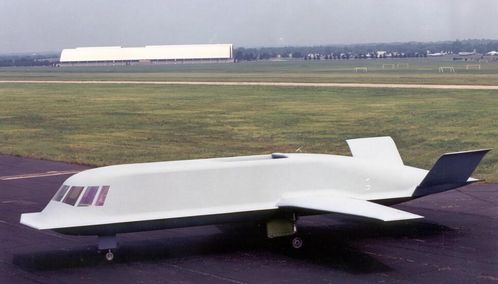 <b>NUMMER 6:</b> Northrup Tacit Blue var en pioner innen stealth-teknologien.