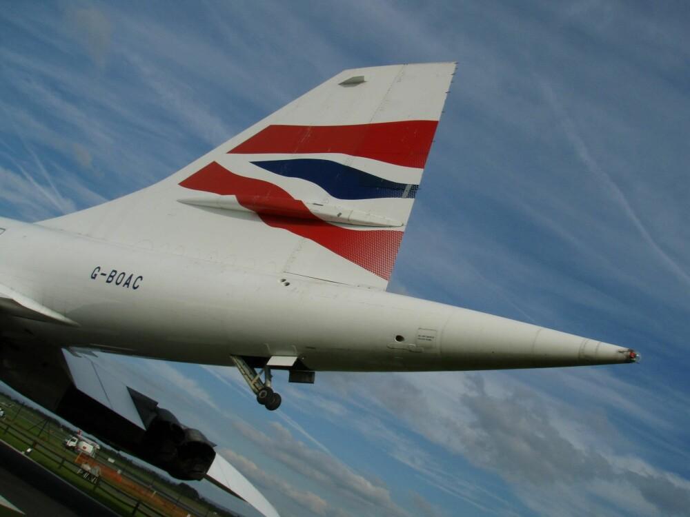 <b>STØTTEHJUL:</b> Overlydsflyet Concorde var såpass utsatt for tail strike med sitt lange haleparti at det ble utstyrt med eget understell for å beskytte halen.