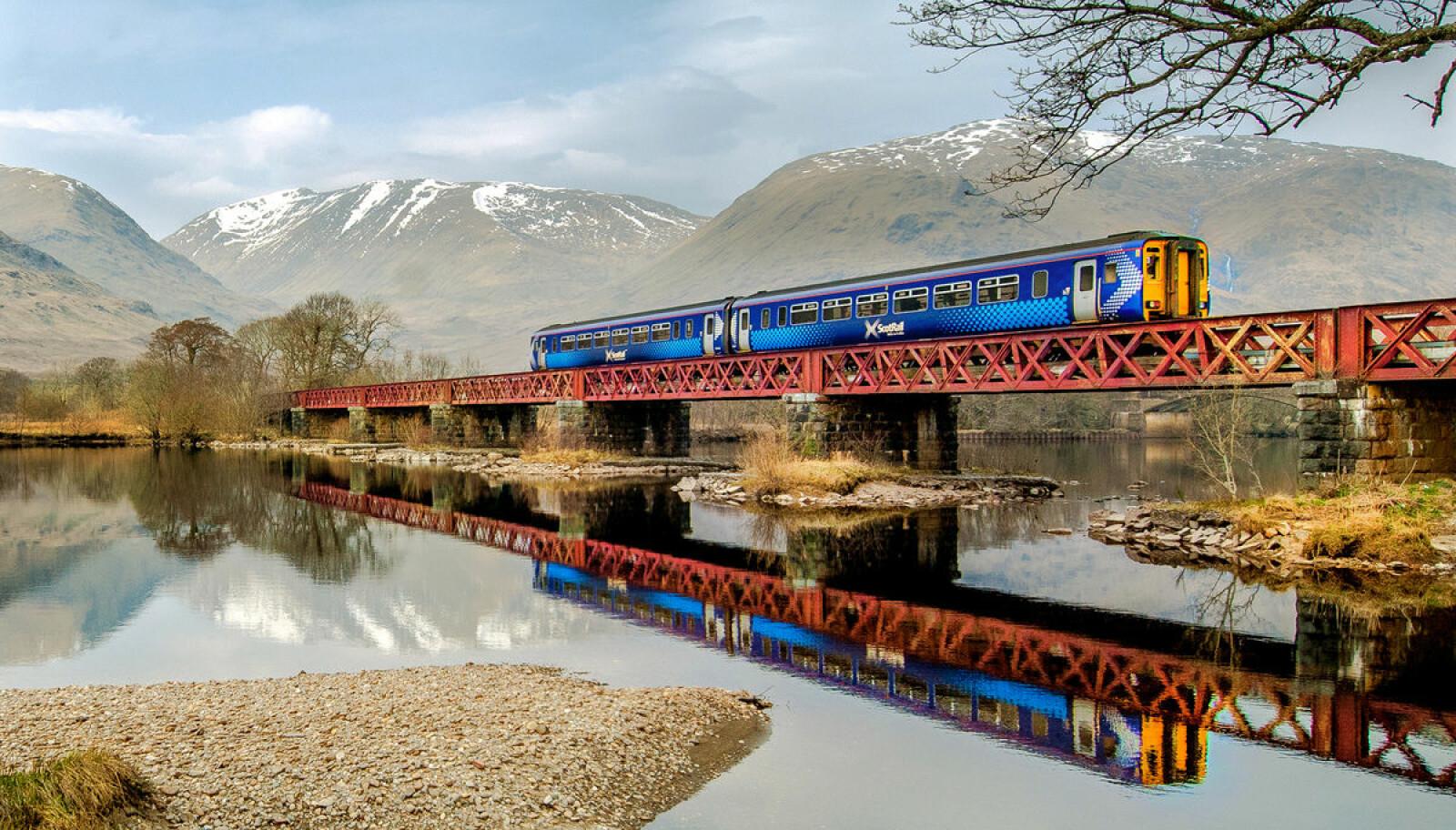 <b>WEST HIGHLAND LINE:</b> På denne jernbanestrekningen kan du gjenoppleve noen øyeblikk fra Harry Potter-filmene.