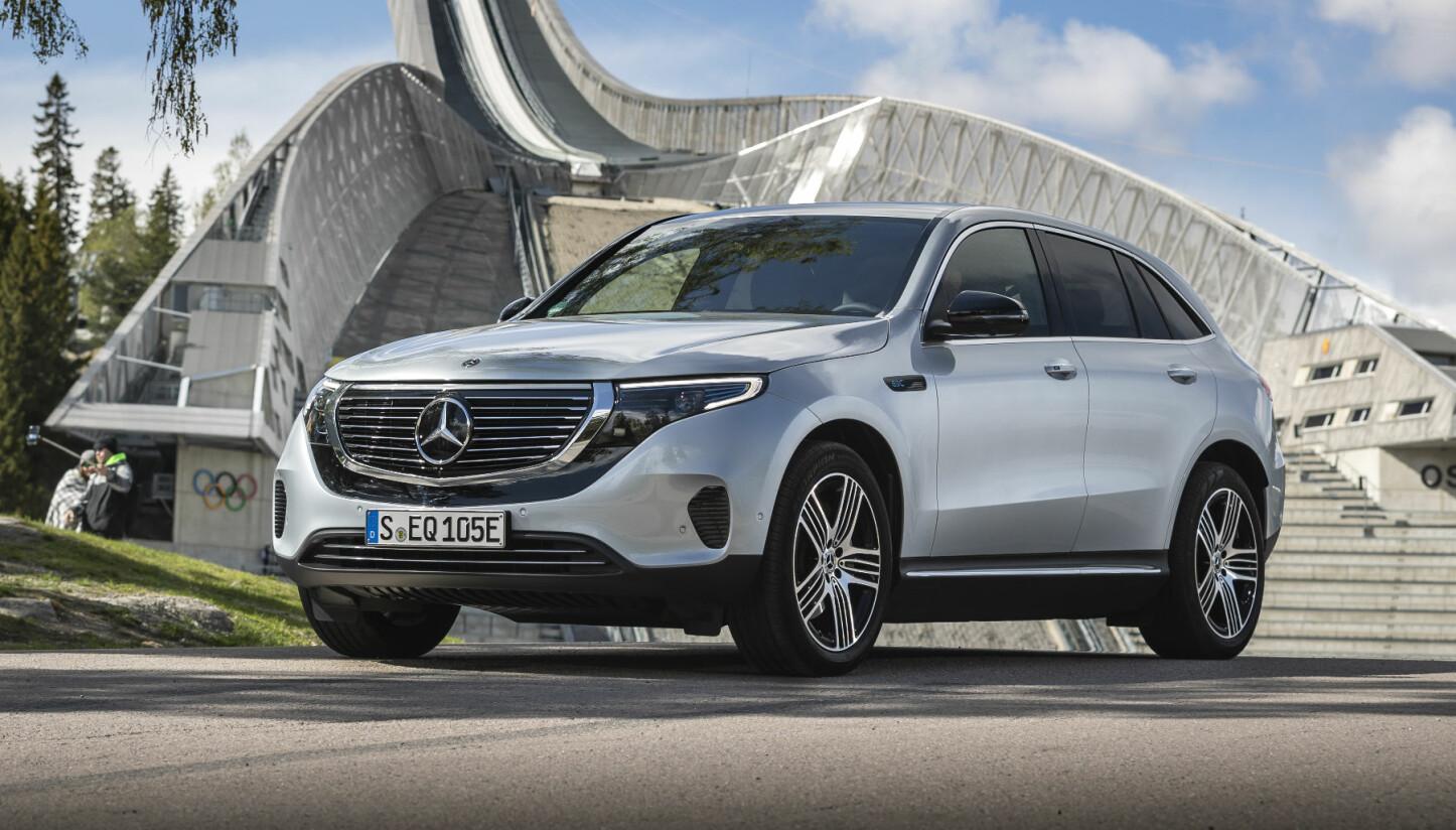 <b>TILHENGER:</b> Mercedes EQC kan trekke tilhenger på inntil 1800 kilo.