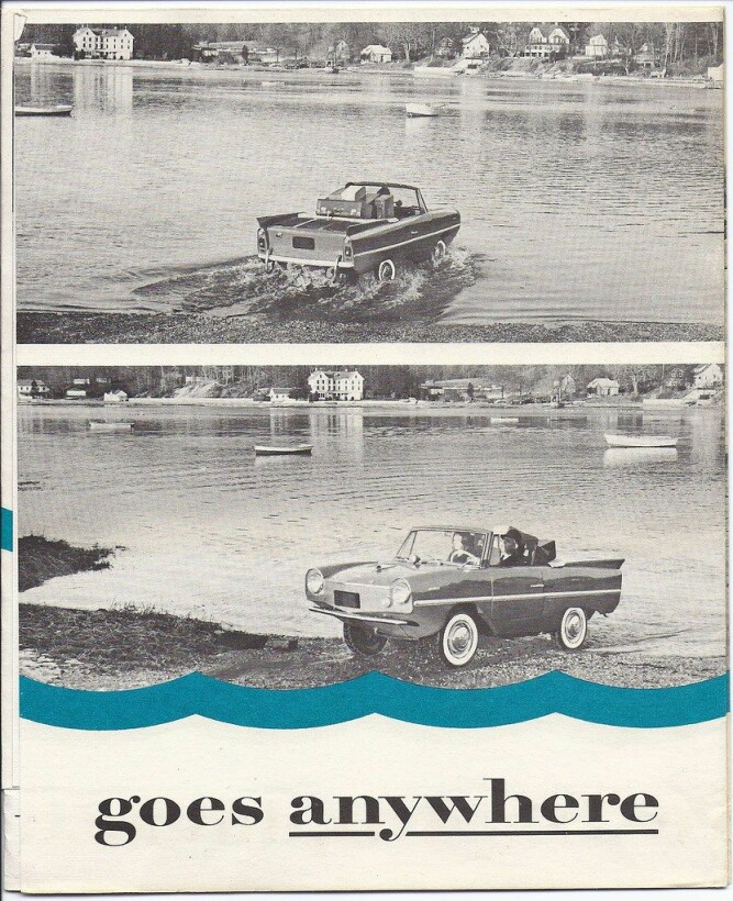 <b>FAMILIETUR:</b> Annonse for Amphicar.