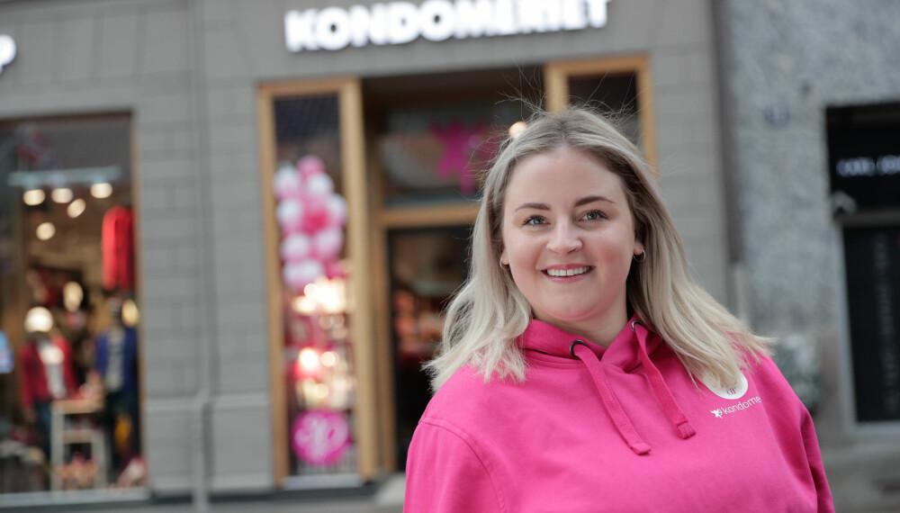 <b>ANONYMT:</b> Marthe Sørflaten i Kondomeriet tror helt anonyme pakker er en viktig grunn til at mange velger å handle på nett hos dem.