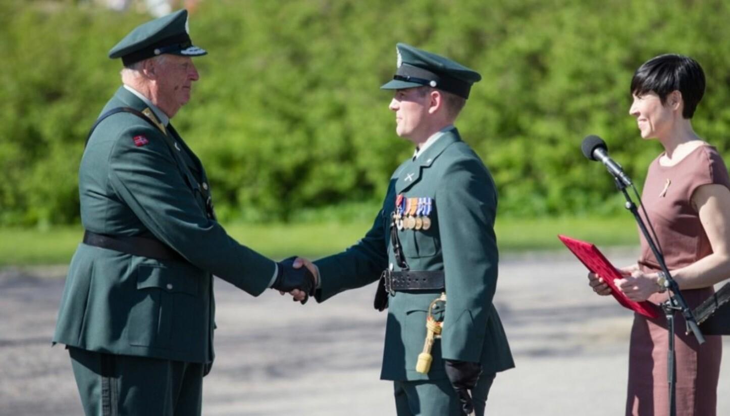 HØYT VERDSATT: Espen Haugeland fikk utdelt Norges høyeste utmerkelse for sin innsats i Afghanistan