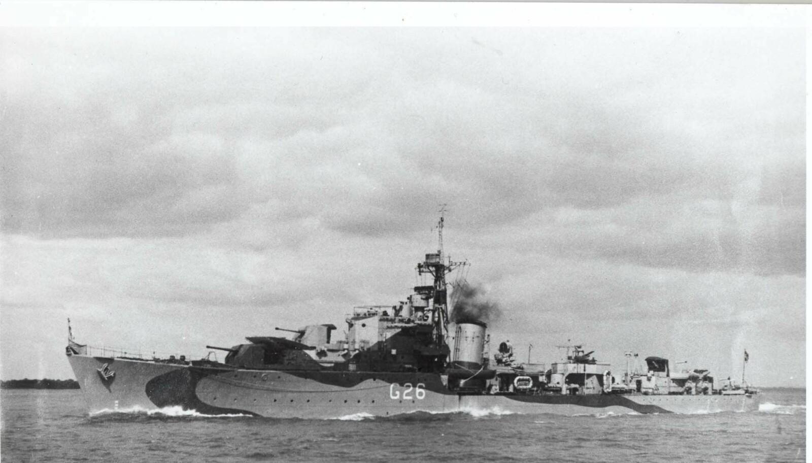 <b>VIKTIG:</b> KNM Stord fikk inn den første torpedoen på Scharnhorst. Det gjorde at skipet måtte sette ned farten og resten av den engelske flåten kunne sette inn nådestøtet.