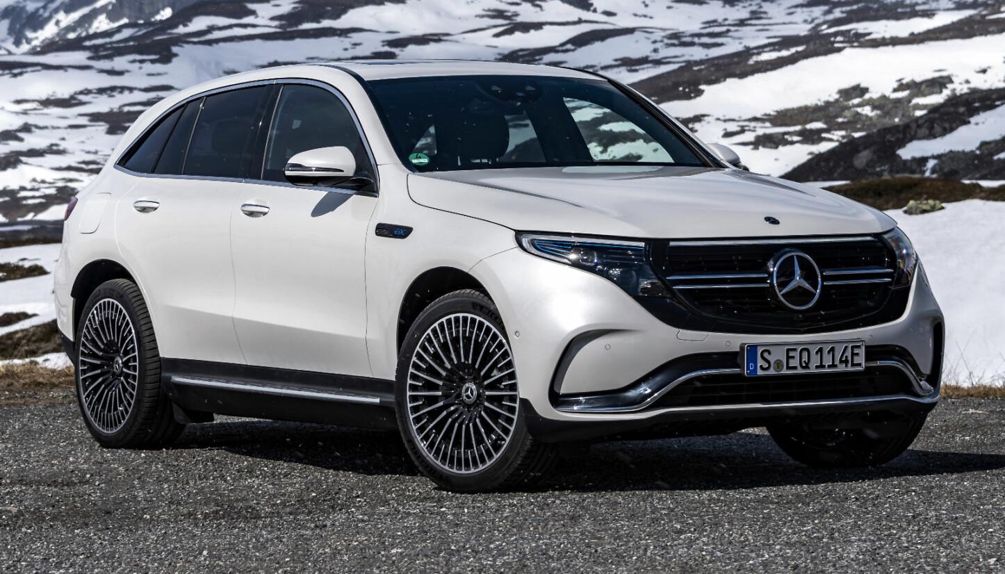 <b>NORSKE FORHOLD:</b> Den nye elbilen Mercedes-Benz EQC 400 4Matic fikk sin verdenspremiere i Norge
