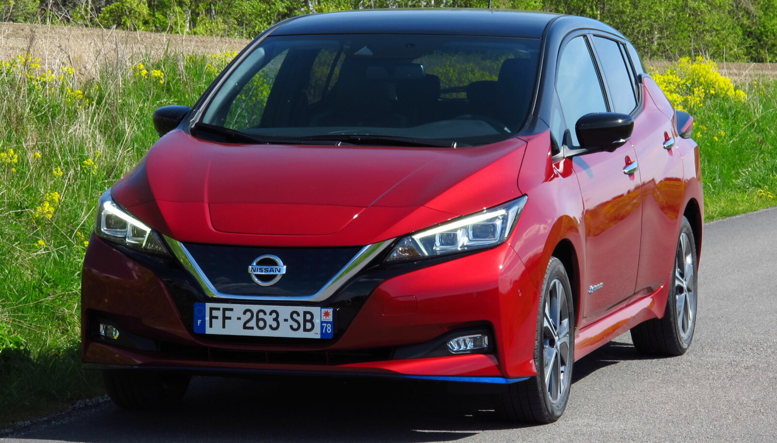 <b>STERKERE:</b> Nissan Leaf 62 kWh e+ har 215 hk og gjør 0-100 km/t på 7,3 sekunder.