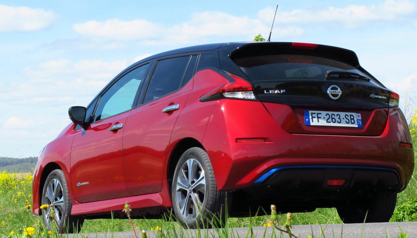<b>BEDRE REKKEVIDDE:</b> Nissan Leaf 62 kWh e+ går i følge produsenten 115 km lenger med større batteripakke.