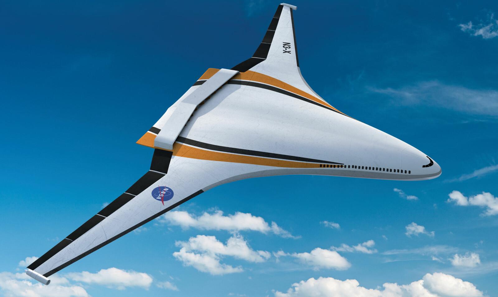 <b>FRAMTID:</b> NASA tror at morgendagens fly kan komme til å se slik ut.