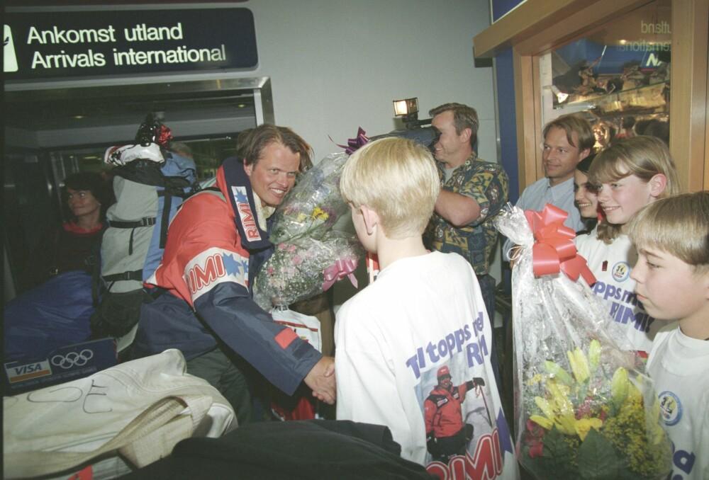 <b>GOD VENN:</b> Den norske eventyreren og forlagsmannen Erling Kagge kom hjem etter å ha vært på sin tredje pol – Mount Everest i 1994. Mannen som loset nordmannen til topps var hans gode venn Rob Hall.