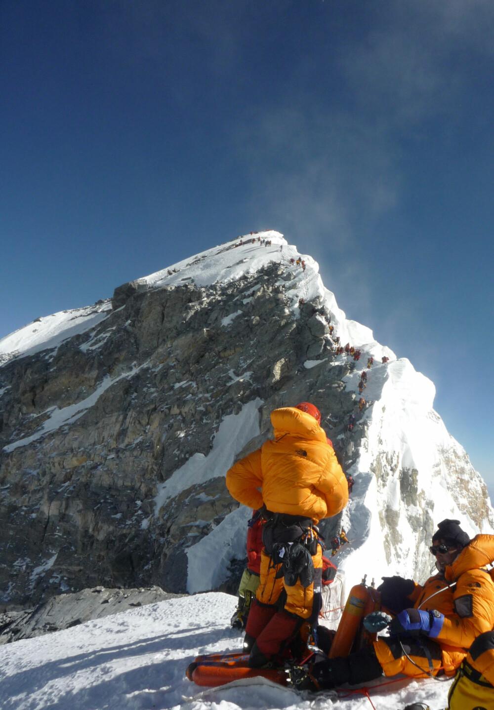 <b>«CRUX»:</b> Hillary Step forsinket Rob Halls ekspedisjon. Dette punktet er det eneste som er krevende klatreteknisk på toppruten.
