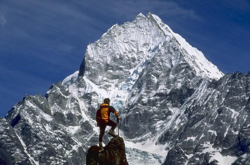 <b>DRØMMEN:</b> Mount Everest fra sin beste side. Når fjellet viser seg fra den verste siden, er det dødelig. Det fikk Erling Kagges gode venn, klatreguiden Rob Hall merke til fulle.