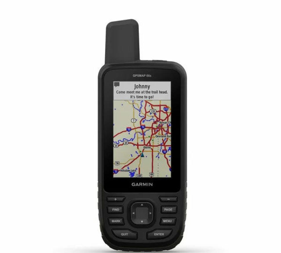 <b>SOLID: </b>Garmin GPSMAP 66s er bygget etter millitære standarder, noe som gjør at den tåler godt å bli med på tur.