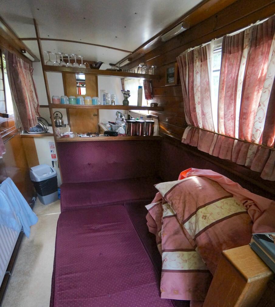 <b>LITEN HYTTE:</b> Båten har hva du trenger, inkludert toalett og dusj.