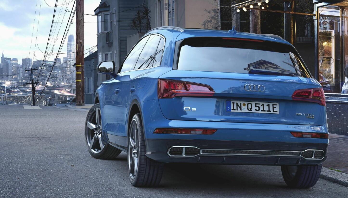 LADBAR AUDI Q5: Det blir mulig å bestille Audi Q5 55 TFSI e quattro i starten av juni. Utlevering til kunder begynner etter sommeren i år.