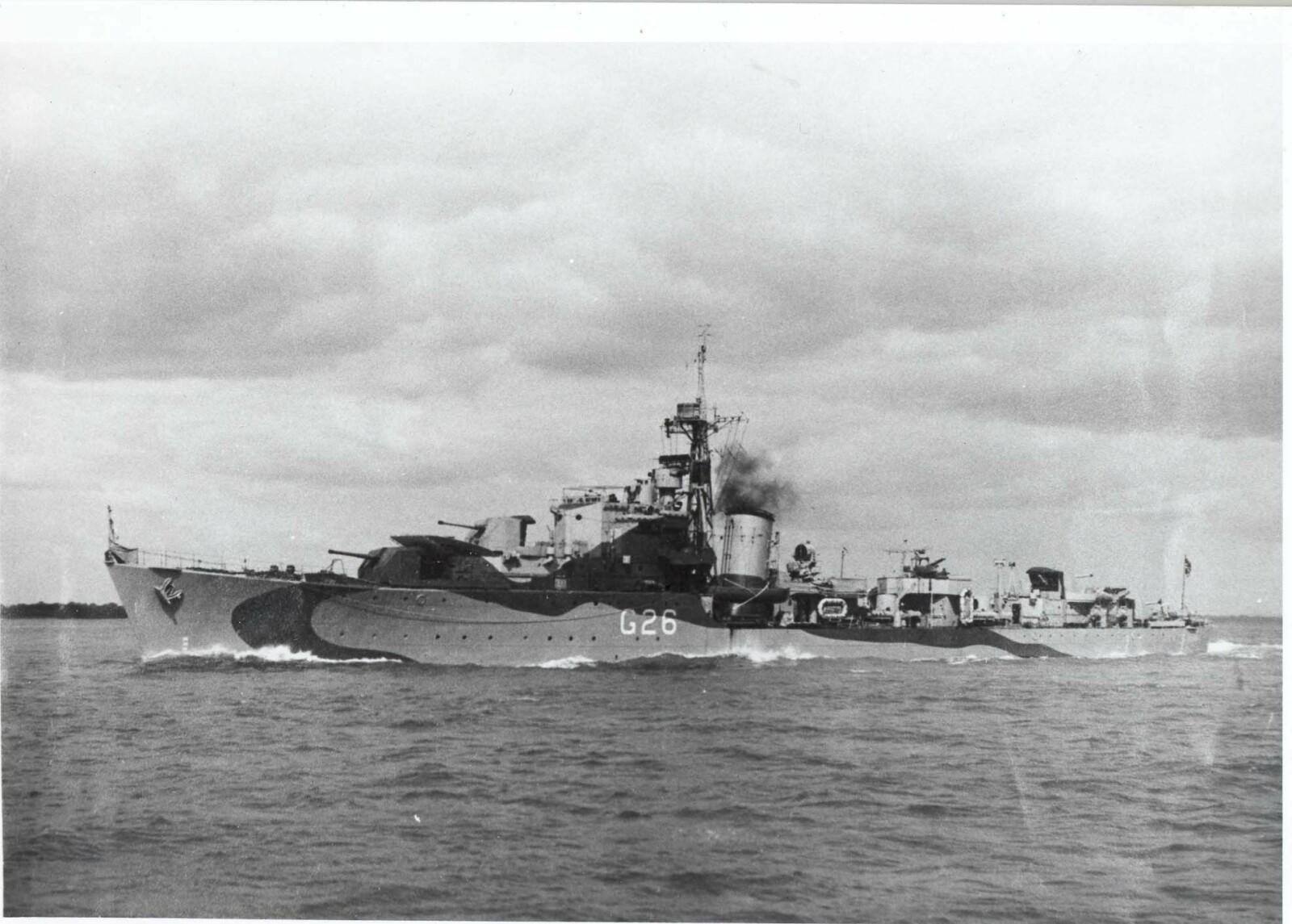 <b>SENTRAL ROLLE:</b> Jageren «Stord» med norsk mannskap med kallenavnet «Lucky 26» hadde en sentral rolle under D-Dagen i Normandie i 1944.