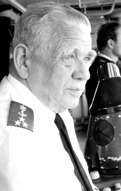 <b>SJEF FOR NORD-NORGE:</b> I fredstid ble viseadmiral Storheill sjef i Sjøforsvaret med ansvar for Nord-Norge.