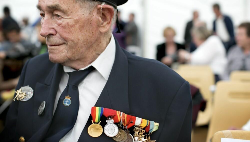 """<b>TORPEDERT:</b> Monrad Mosberg deltok om bord på jageren """"Svenner"""" på D-dagen. Jageren ble torpedert og Mosberg mistet 35 kamerater."""