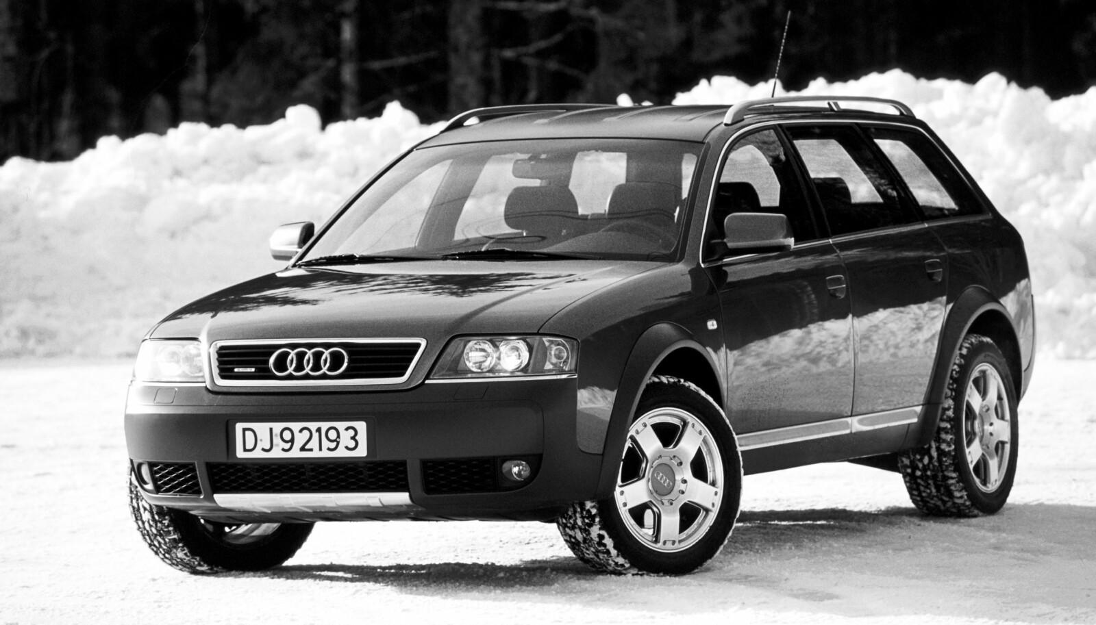 KAN DET MESTE: Luftfjæringen i Audi Allroad quattro gjorde bilen til en ordentlig tusenkunstner. Og en helt unik sak på tidlig 2000-tall.