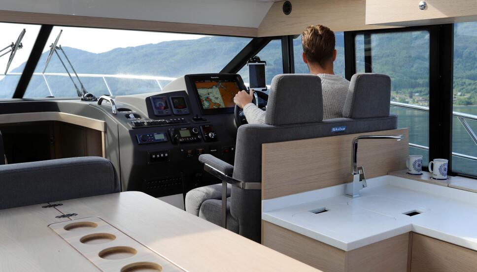 <b>UNDERVEIS:</b> Den nye Skilsø-modellen fra Viknes er en allsidig turbåt.