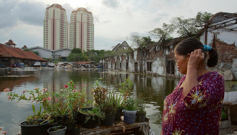 <b>SYNKER:</b> Jakarta synker. Hvert år synker byen i snitt med 1–15 centimeter. I den nordlige delen av byen synker den med opp til 25 centimeter i året.