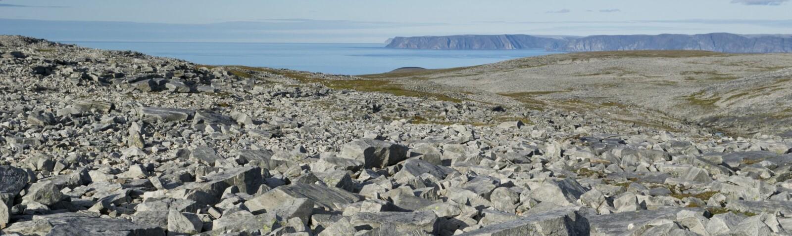 <b>TIL FOTS:</b> Fra 200-300 meter over havet er det høyfjellterreng med mye blokkmark. Havskodde og uvær kan gjøre orientering til en utfordring, også sommerstid.