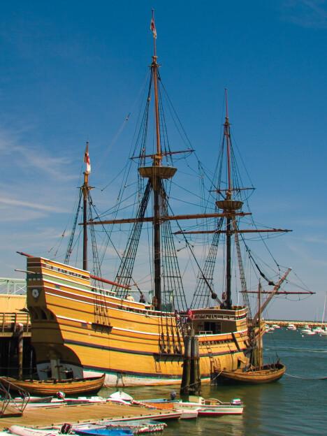 <b>KOPI:</b> Slik tror man Mayflower så ut i 1620.