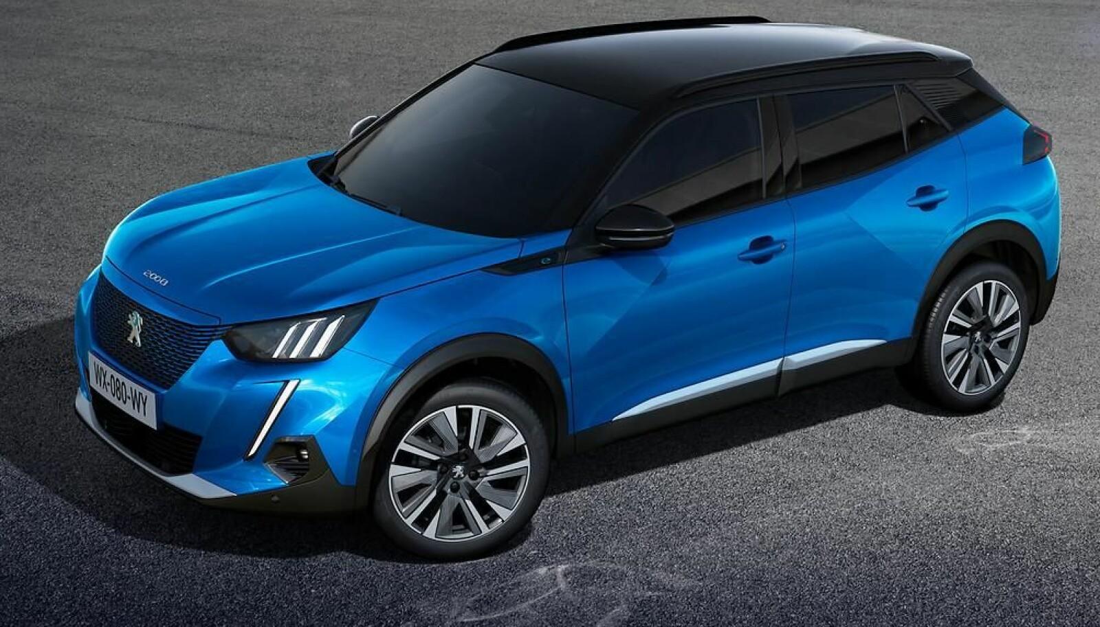 <b>KOMPAKT-SUV:</b> Elbilen Peugeot e-2008 kommer i et meget populært bilformat.