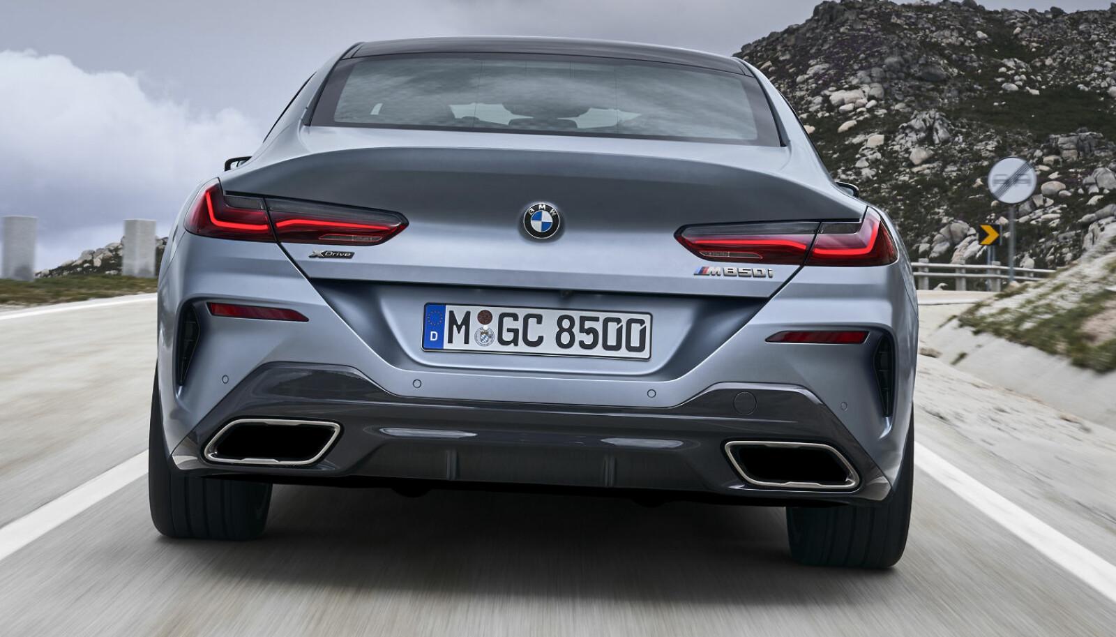 BREDEST: Ingen annen BMW-modell har bredere sporvidde bak enn 8-serie Gran Coupé