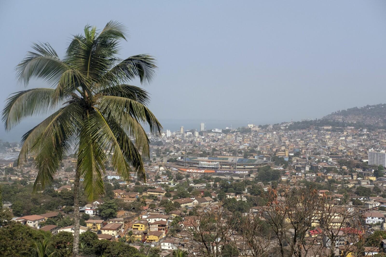 <b>FREETOWN:</b>Freetown er omringet fjell som gir god utsikt over byen.