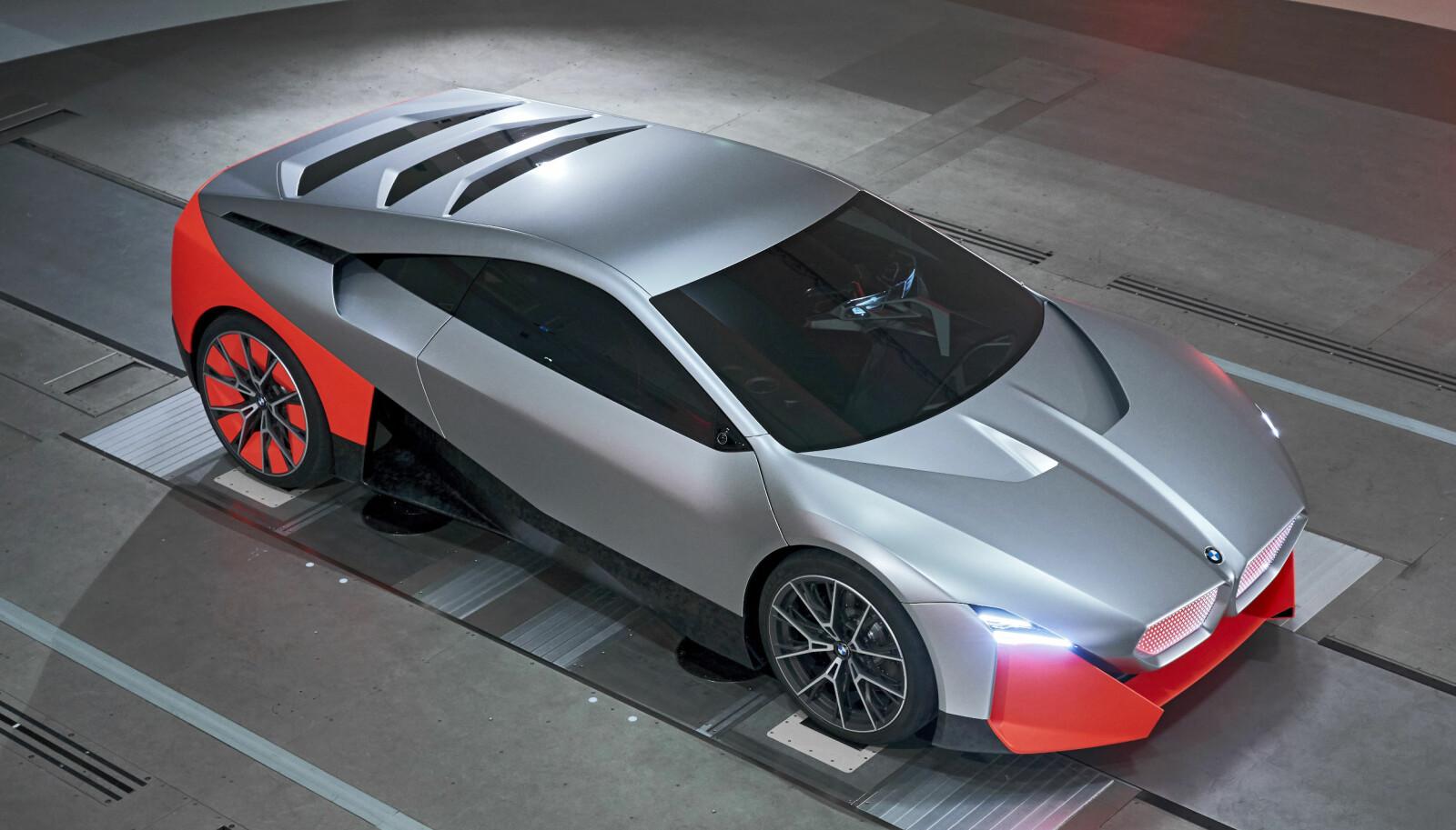 <b>VISJON:</b> Vision M Next er delvis bygget av resirkulert karbon fra vrakede i3 og i8.