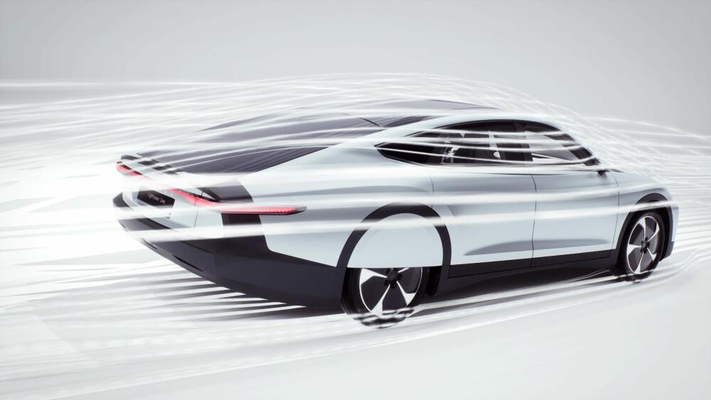 <b><SPAN CLASS=BOLD><STRONG>VINDTUNNEL:</b></strong></span> Hemmeligheten til konkurranse-elbilene har vært aerodynamikk og lav vekt. Trolig er dette oppskriften på rekkevidden til Lightyear One.