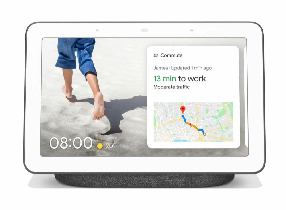 <b>SMARTSKJERM:</b> Google Nest Hub er en smarthøyttaler med skjerm.