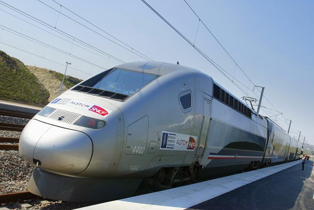 <b>LYNTOG:</b> Verdensrekorden for et konvensjonelt tog er 574,8 km/t, og ble satt 3. april 2007 av et modifisert TGV-tog (bildet) på linjen Paris–Strasbourg.