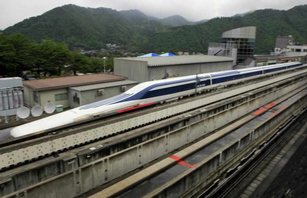 <b>MAGLEV-REKORD:</b> Rekorden for maglev-tog ble satt i Japan i 2015 med en hastighet på 603 km/t på en teststrekning. SCMaglev-toget er utviklet avCentral Japan Railway Company.