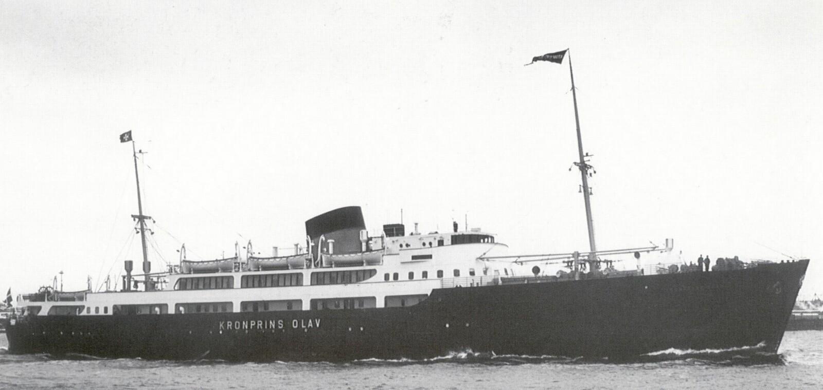 <b>DANSKEBÅT: </b>MS «Kronprins Olav» ble satt i rute i 1937.
