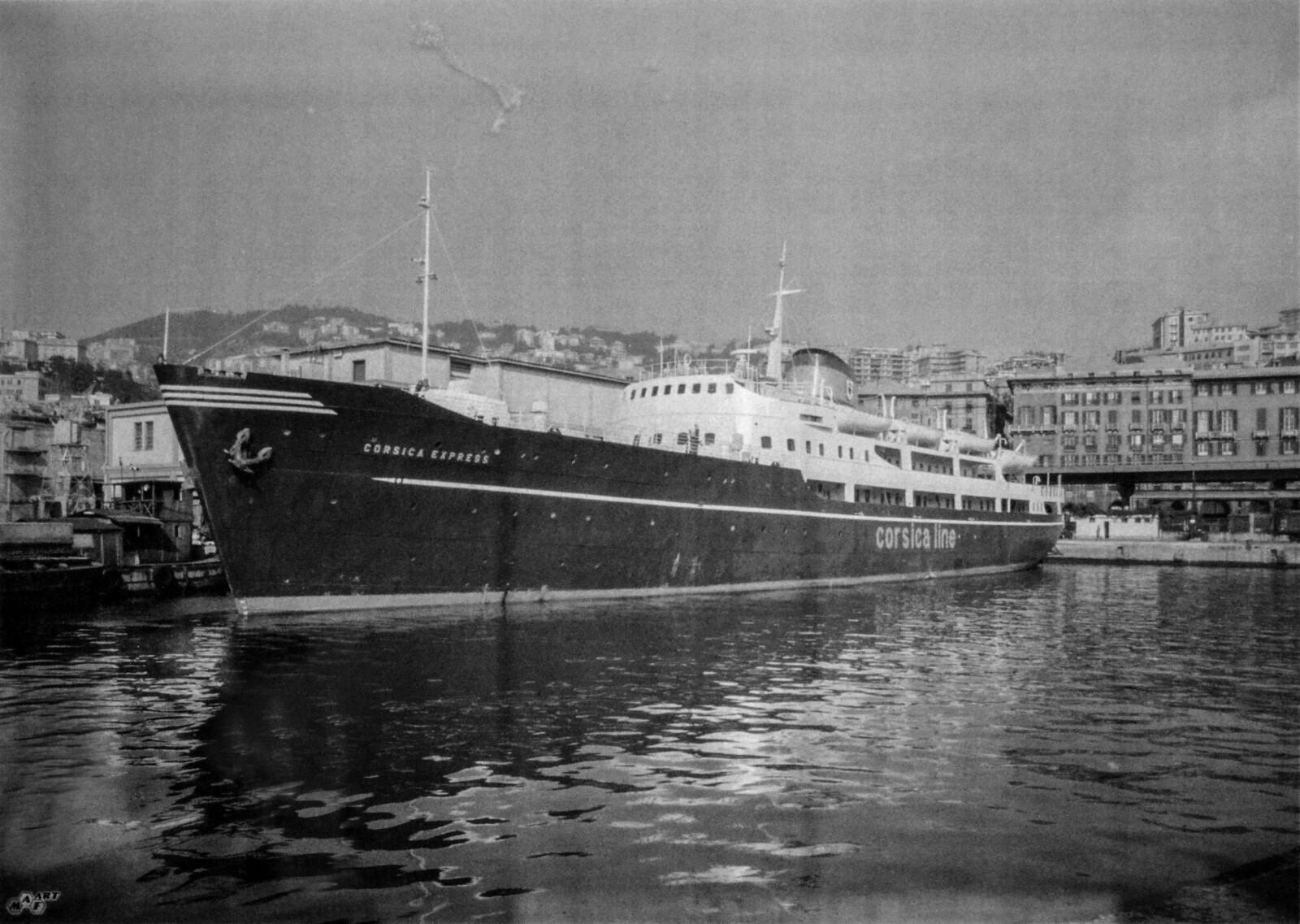 <b>TIL ITALIA:</b> Danskebåten «Kronprins Olav» ble til «Korsika Express» og seilte mellom Genova og Bastia.