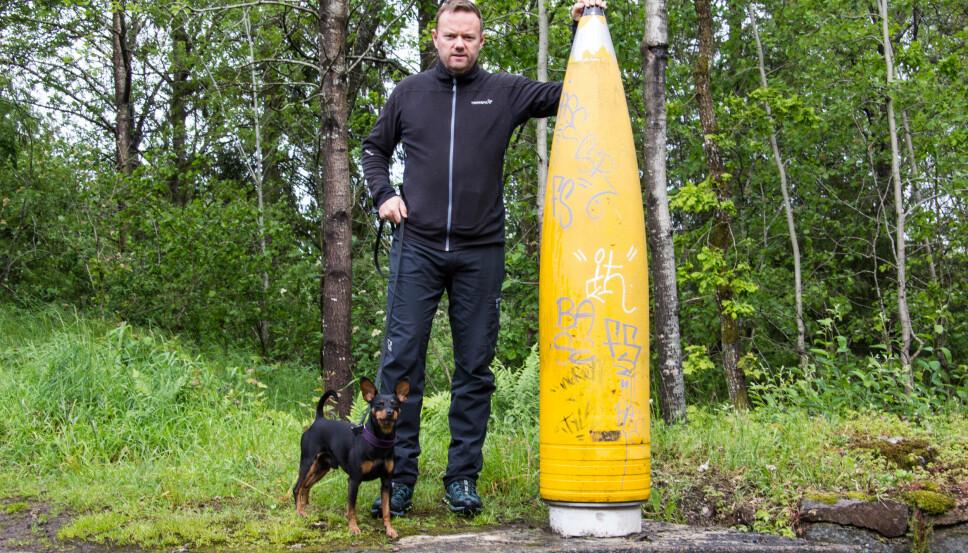 <b>SVÆRING: </b>Prosjektilet som ble brukt på Vardås Fort veide 800 kilo og hadde en utgangshastighet på 820 meter per sekund. Kanonen kunne skyte helt til svenskegrensen.