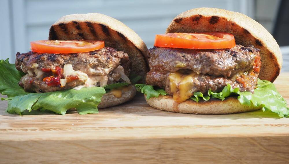 <b>HIMMELSK:</b> Med tilbehøret inni burgeren smelter sakene sammen og løfter hverandre til nye høyder.