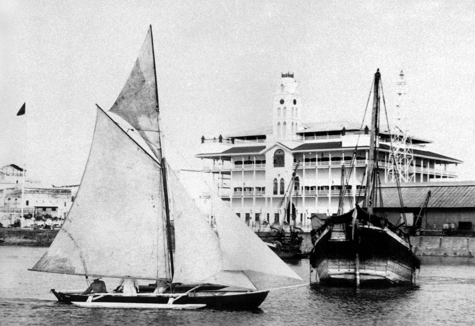 <b>ROLIGERE TIDER:</b> Foto fra havnen i Zanzibar sent på 1800-tallet.