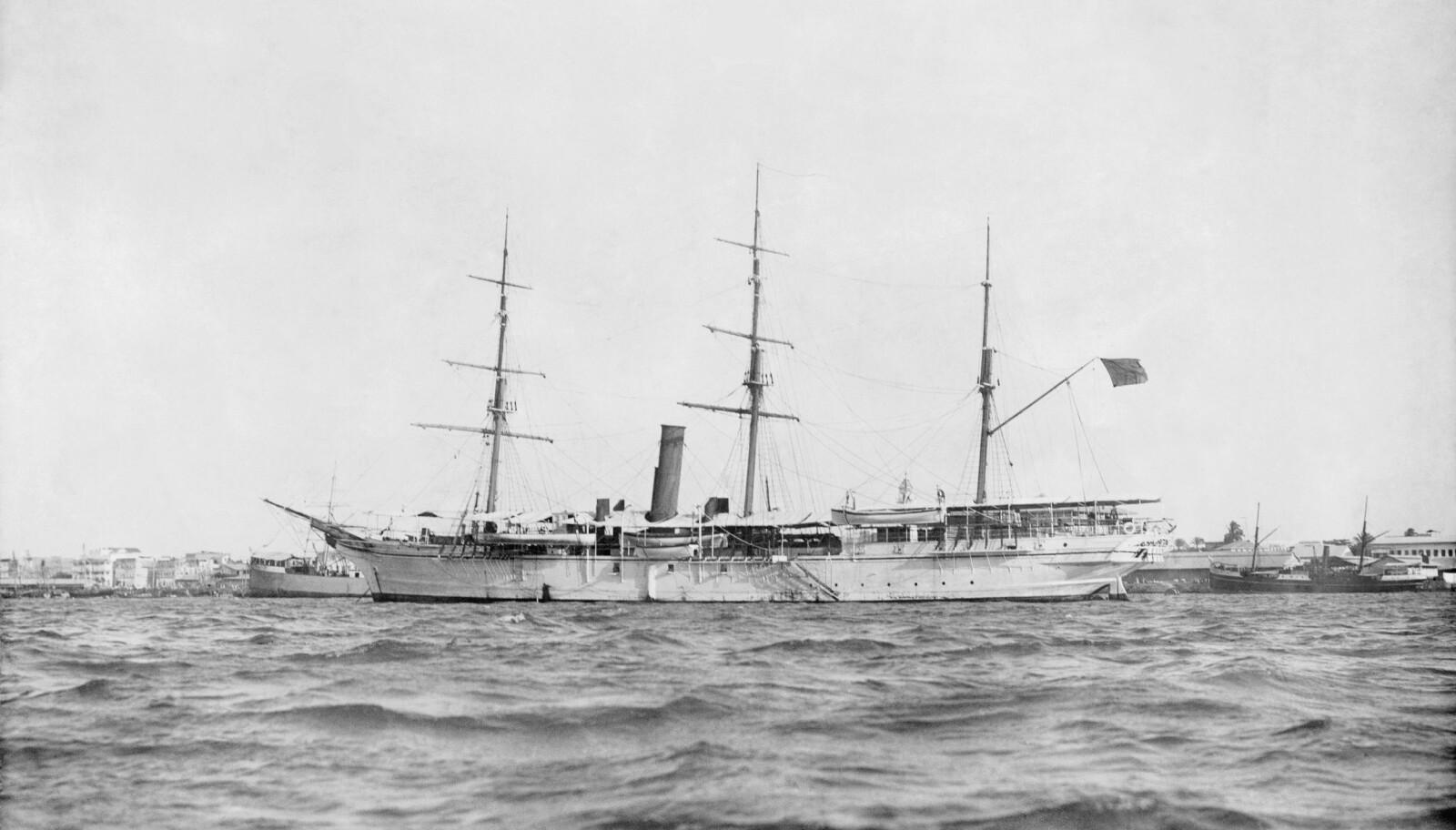 <b>KONGELIG YACHT:</b> Sultanens skip HHS Glasgow var inspirert av britenes HMS Glasgow, som besøkte Zanzibar i 1873.