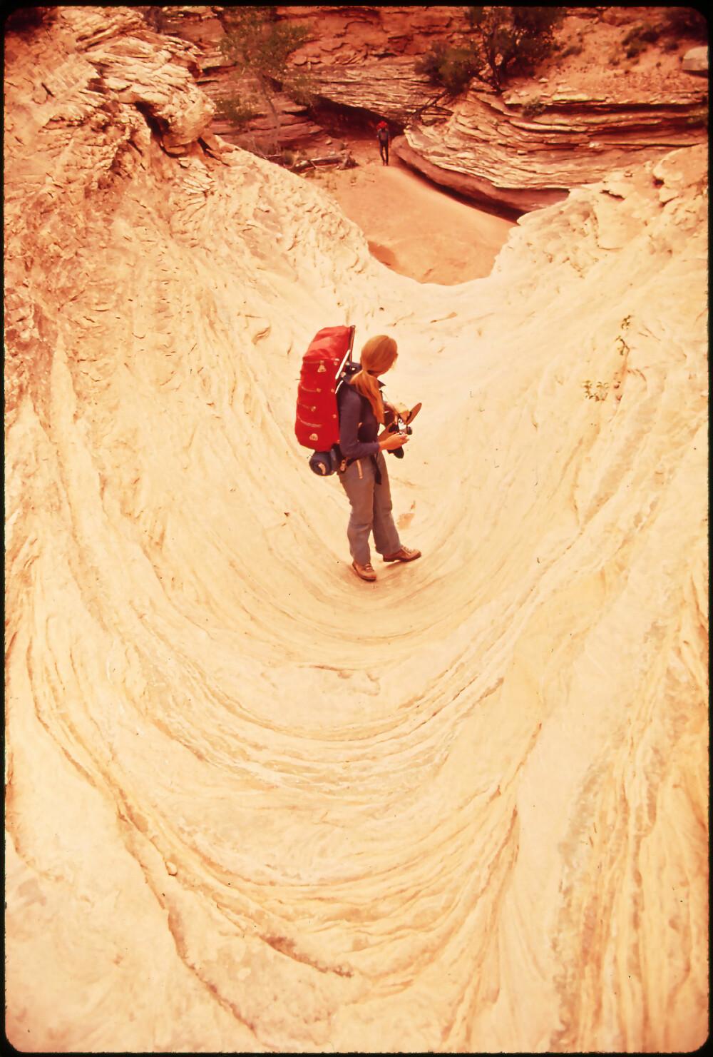 <b>THE MAZE:</b> Labyrinten i Canyonlands er kronglete og utsatt for ras og plutselig oversvømmelser.