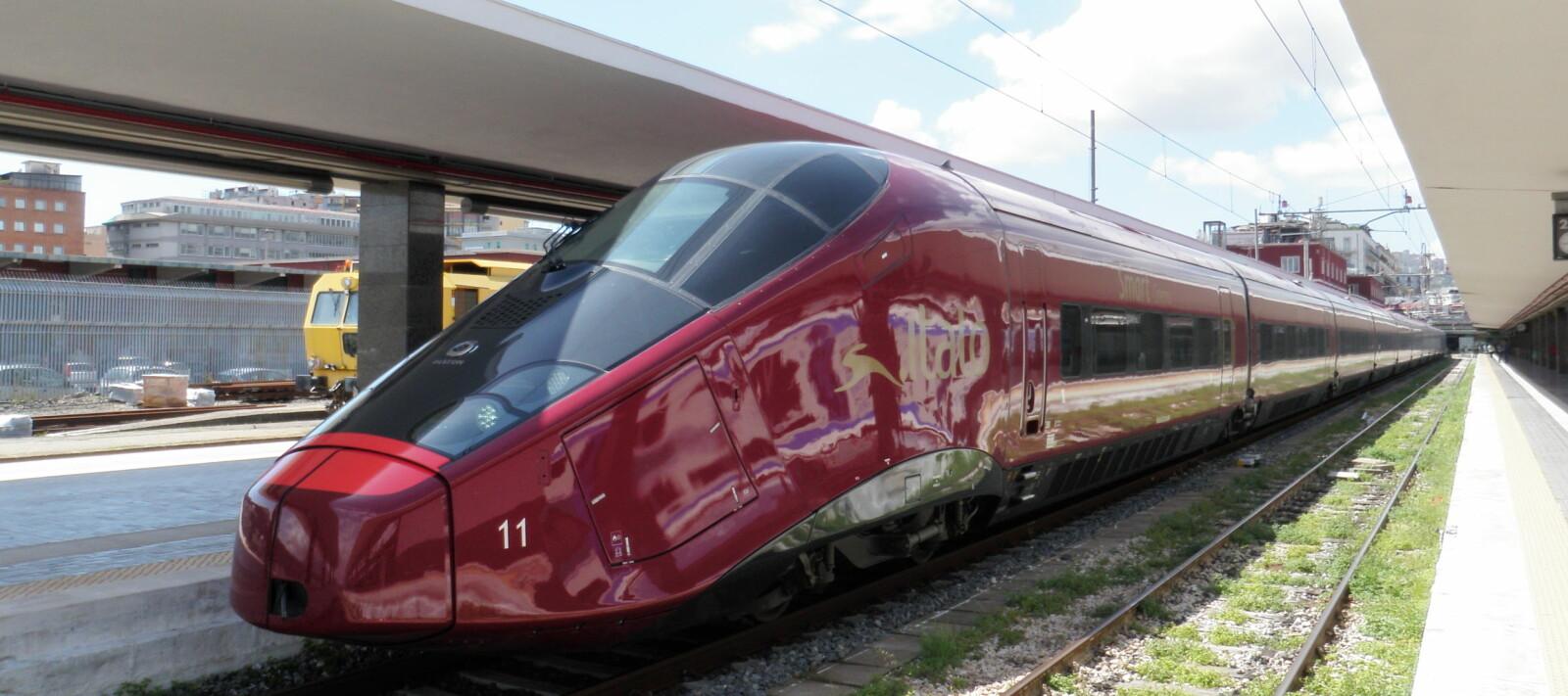 <b>AGV ITALO: </b>Med hastigheter på opp til 360 km/t går det unna mellom Milano og Napoli i Italia.<b> </b>