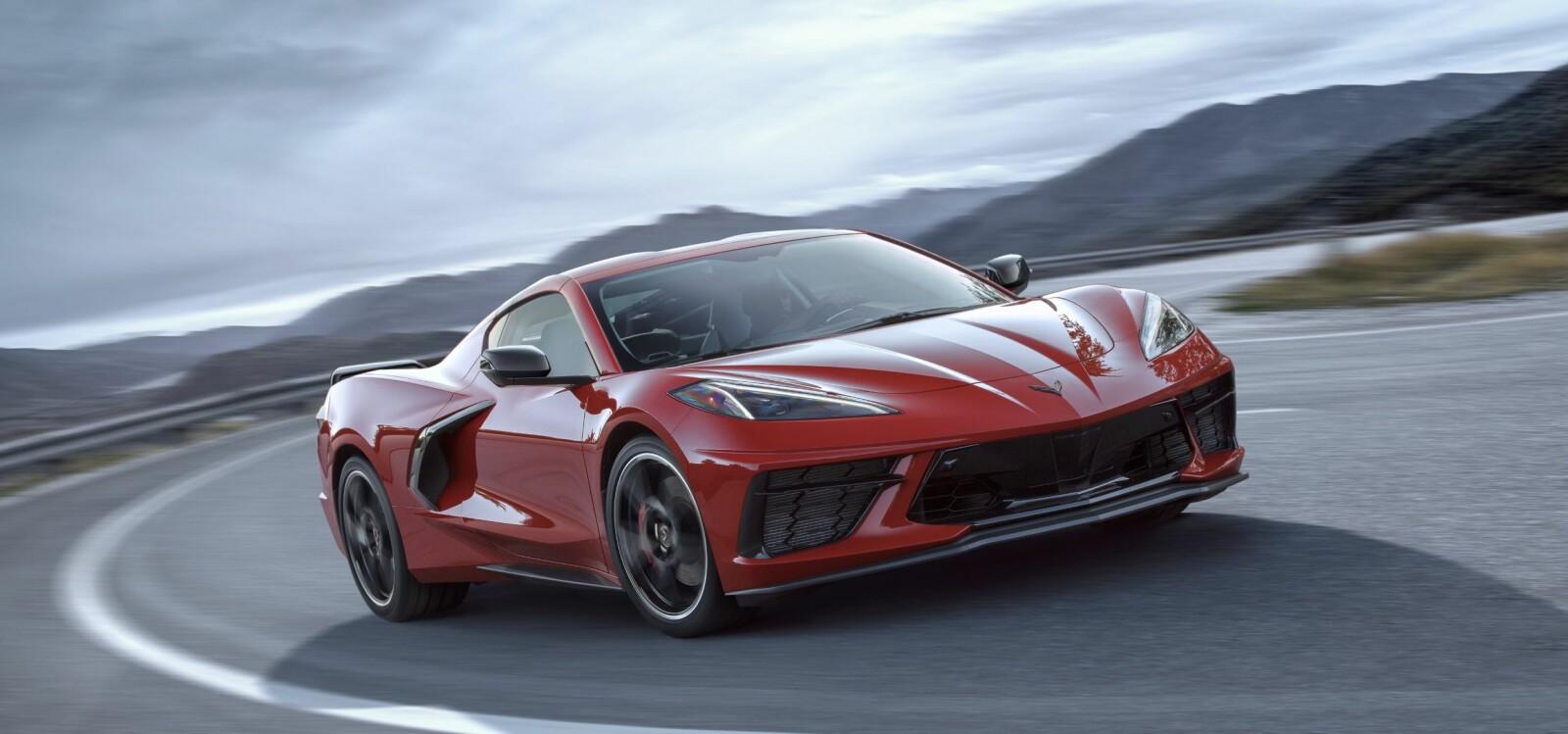 <b>FERRARI?:</b> Det er faktisk en Corvette.